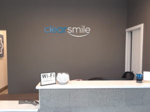 Clearsmile Reception Lettering