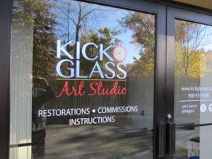 Kick Glass Door Lettering/Graphics