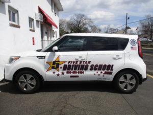 Five Star Driving School Lettering