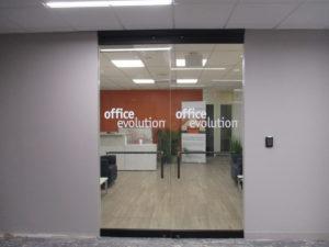 Office Evolution Door Lettering